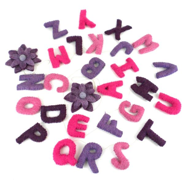 Pink & Purple Alphabet Garland
