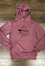 Beyond The Usual BTU Unisex Hoodie Compass - Cardinal Heather