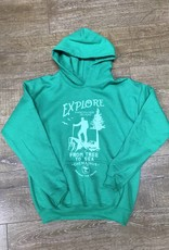 Beyond The Usual BTU Youth Hoodie Explore - Green