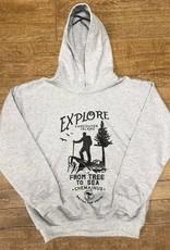 Beyond The Usual BTU Youth Hoodie Explore - Grey
