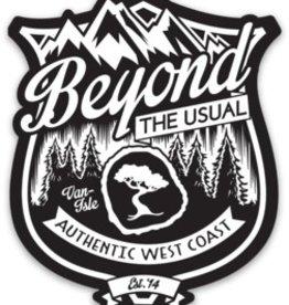 "Beyond The Usual BTU Badge Magnet 3"""