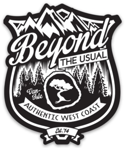 Beyond The Usual BTU Badge Magnet 3""