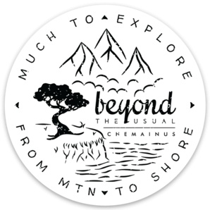 Beyond The Usual BTU Compass Sticker  3""