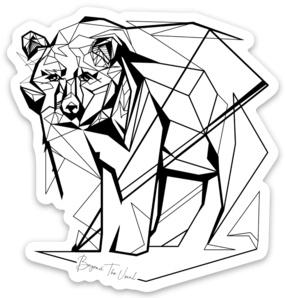 "Beyond The Usual BTU Bear Sticker  3"""