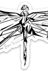 Beyond The Usual BTU Dragonfly Sticker  3""