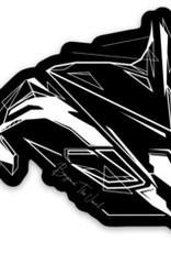 "Beyond The Usual BTU Orca Sticker  3"""