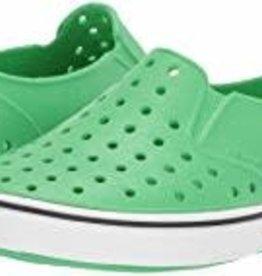 Native Shoes Miles Child Grasshopper Green Shell White