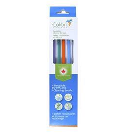 Colibri Canada Colibri Silicone Straw pack (4) + cleaner