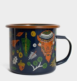 United By Blue UBB Folk & Fauna Enamel Mug