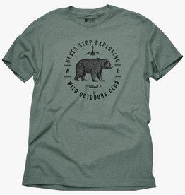 Wild Outdoors Club Never Stop Exploring Men's Tee