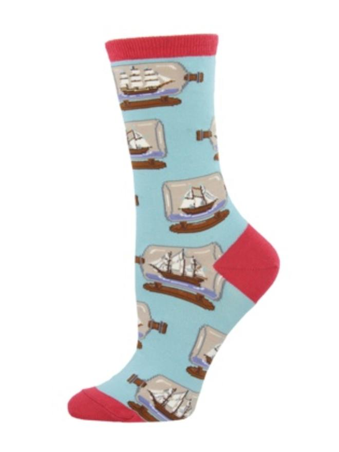 227e8c91ae97 SockSmith Women s Ship In A Bottle Blue Chalk