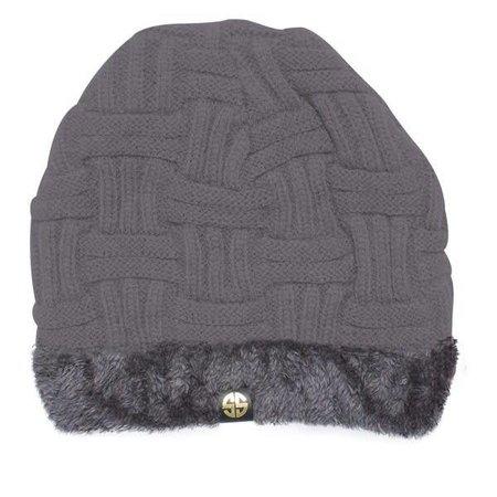 Grey Sherpa Beanie