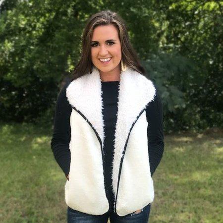 CC Sherpa Reversible Vest White