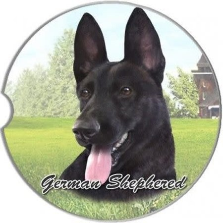 German Shepherd Black Car Coaster