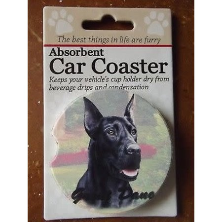 Great Dane Black Car Coaster