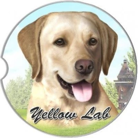 Labrador Yellow Car Coaster