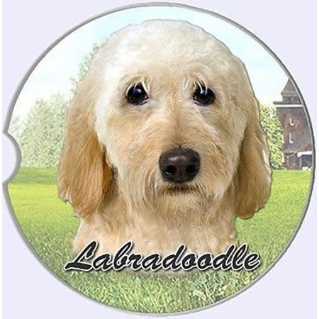 Labradoodle Cream Car Coaster