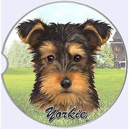 Yorkie Puppy Cut Car Coaster