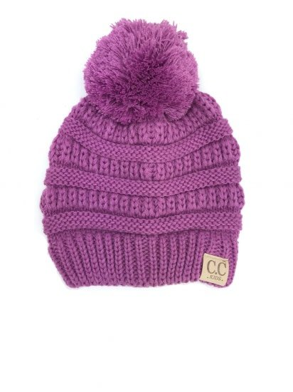 e70e9ce8a75 C. C Brand CC Youth Pom Pom Beanie New Lavendar - Papa s General Store