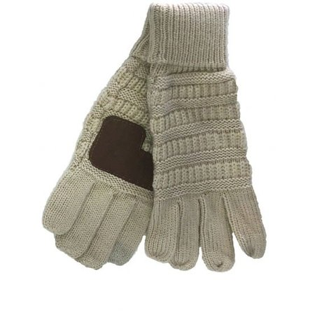 CC Smart Tip Knit Gloves Beige