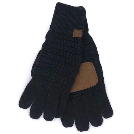 CC Smart Tip Knit Gloves Black