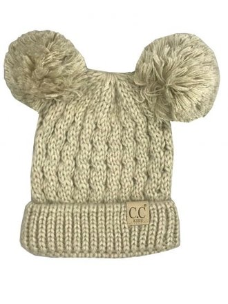CC Youth Beanie with Ears Beige Mulit 6e14e61cd721