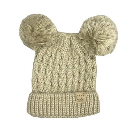 CC Youth Beanie with Ears Beige Mulit