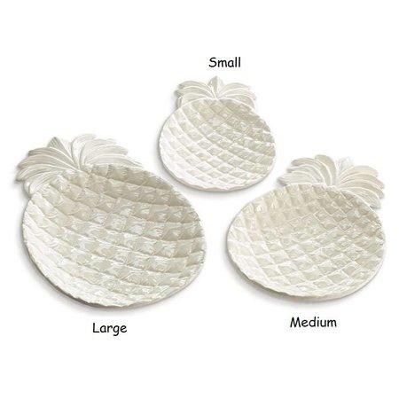 Plate Ceramic Pineapple Medium