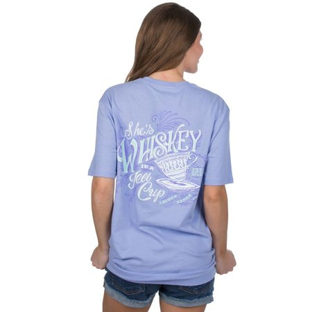 Whiskey In A Tea Cup Tee SS Lilac Flower