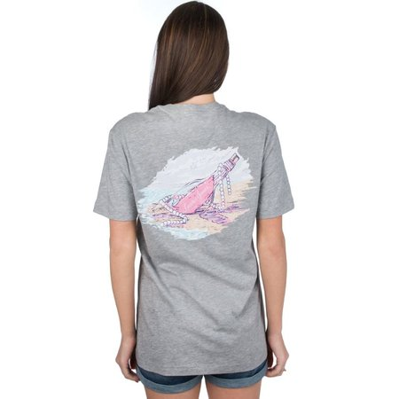 Message In A Bottle Tee SS Heather Grey Small