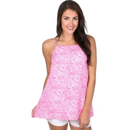 Emmie Tank Ruffle Some Feathers X-Small