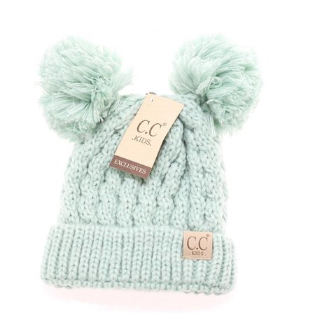 CC Youth Beanie with Ears Mint Multi
