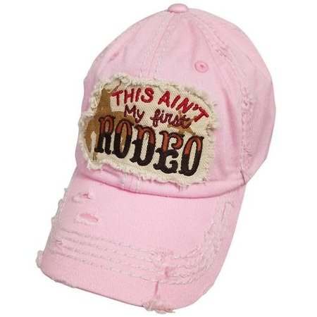 This Ain't My First Rodeo Torn Hat Light Pink