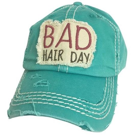 Bad Hair Day Torn Hat Teal