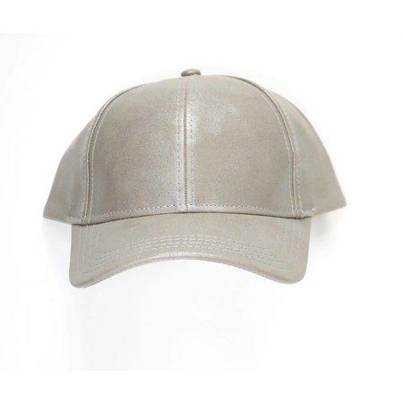 Baseball Cap Metallic Grey