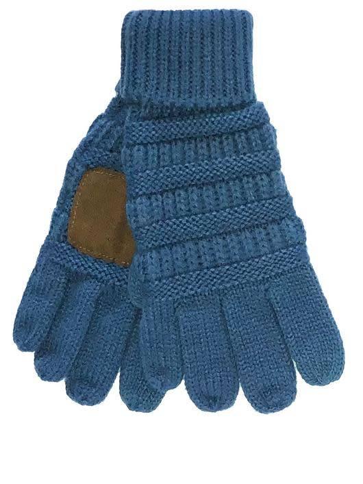d1748c724aac1 C. C Brand Kids CC Smart Tip Knit Gloves Dark Denim - Papa s General ...