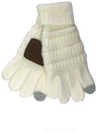 f775b79109e55 Kids CC Smart Tip Knit Gloves Ivory