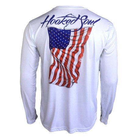 Hooked Soul Performance Old Glory White