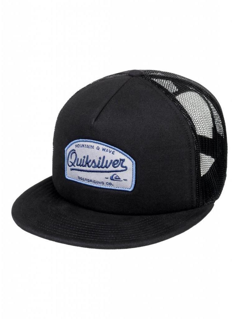 7401eea39 Quiksilver Past Checker Trucker Hat Black