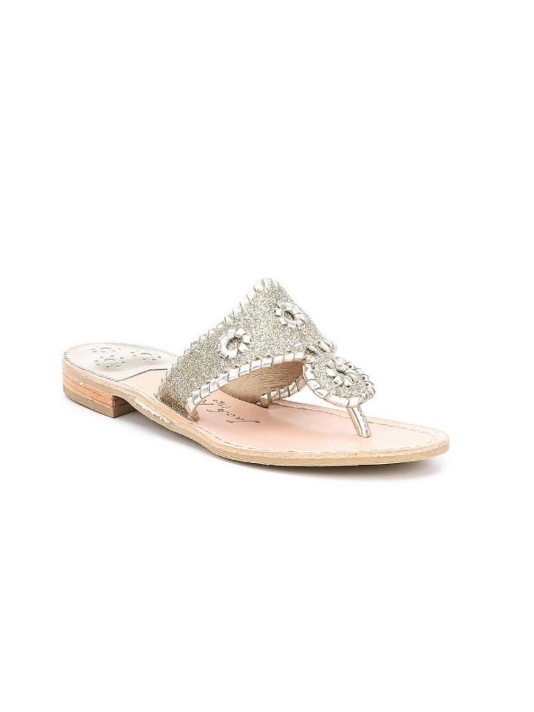 Jack Rogers Sparkle Sandal Platinum