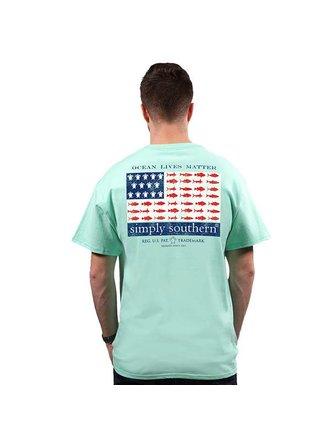 8e3cdb2c Simply Southern Ocean Lives Matter USA Flag Short Sleeve T-Shirt