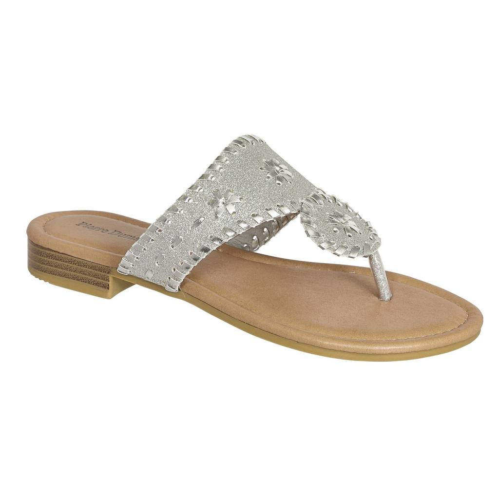 d4084c0079d1 Pierre Dumas Womens Rosetta-18 Fashion Sandal Silver - Papa s ...