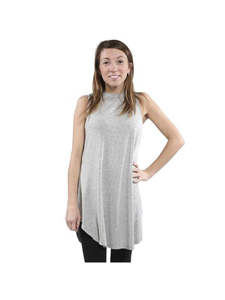 7a57359697f Simply Southern Chic Sleeveless Tunic Top Heather Grey - Papa's ...