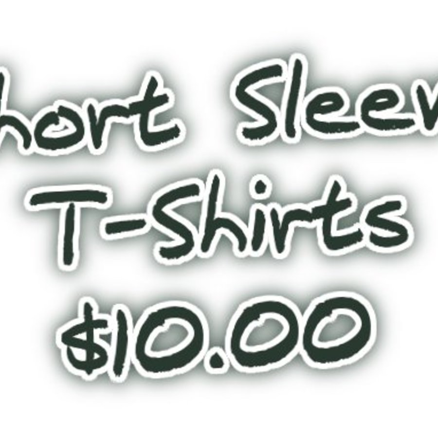 $10 Short Sleeve T-Shirt Sale