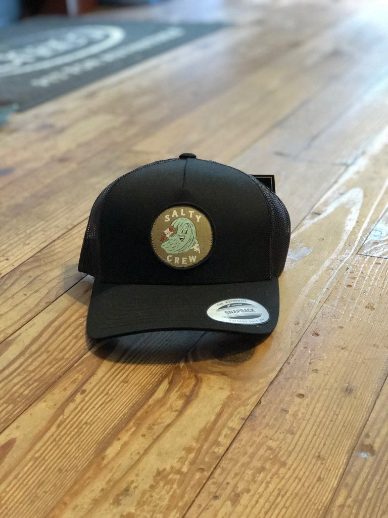 Salty Crew Ding Repair Retro Trucker Black