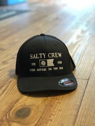 cheap for discount 32ff6 98a21 Salty Crew Salty Crew Essentials Retro Trucker Black