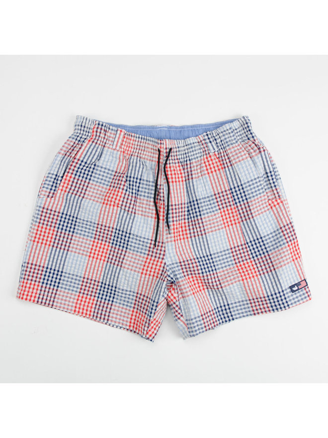 Navy /& Red Southern Marsh Youth Dockside Swim Trunk Old School