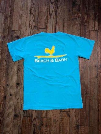 df2ea8d33a8ce Beach & Barn Surfing Rooster™ Pocket Tee Lagoon