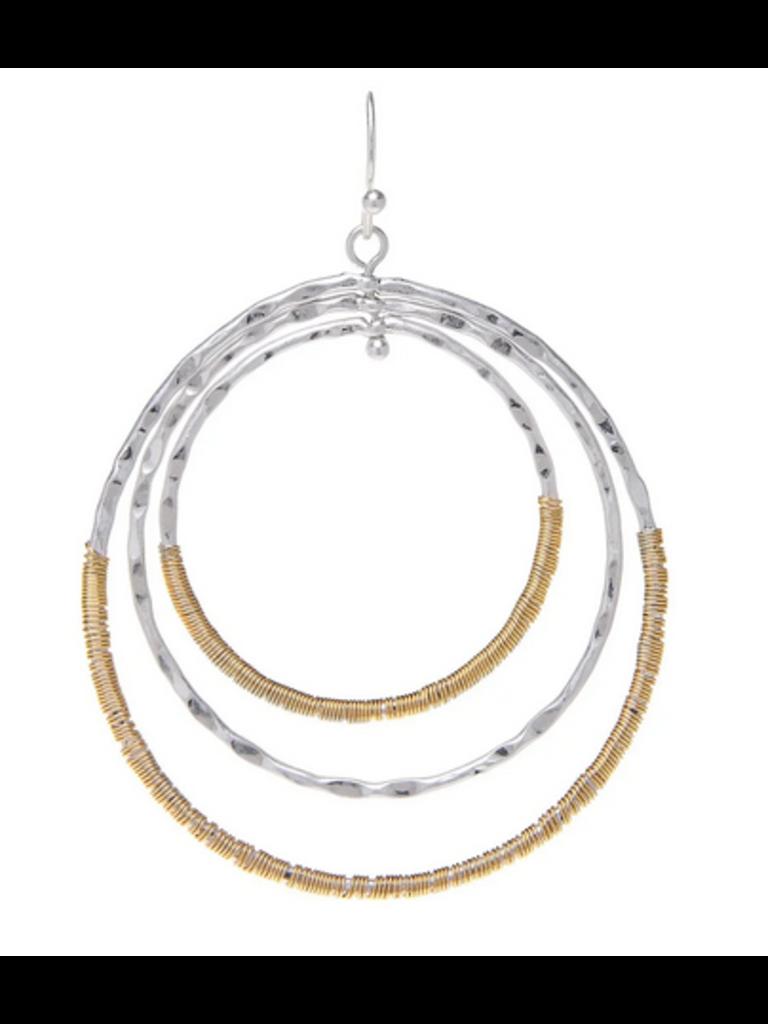 Rain Jewelry Silver Gold Wred Circle