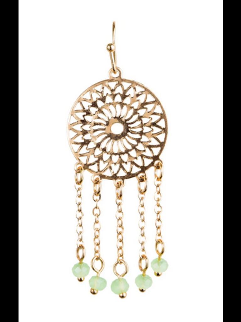 Rain Jewelry Gold Sundial Bead Fringe